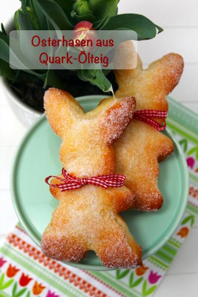 Osterhasen aus Quark-Ölteig